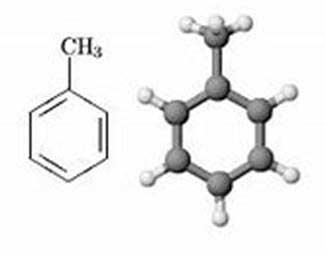 شکل مولکول تولوئن